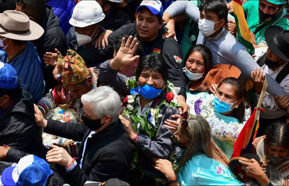 Evo regreso Bolivia by AFP