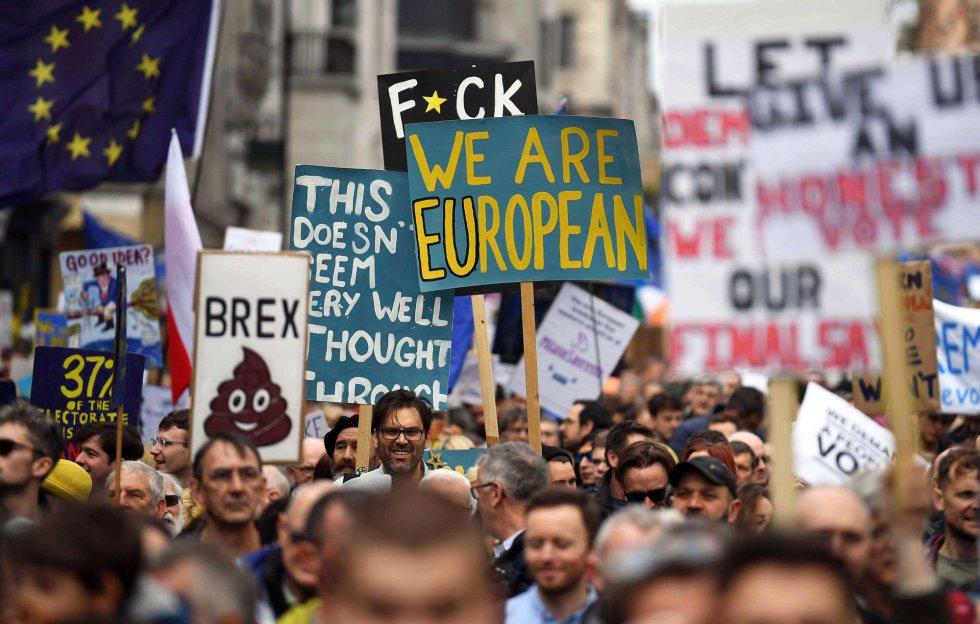 Masiva marcha en Londres para pedir una nueva consulta por el Brexit