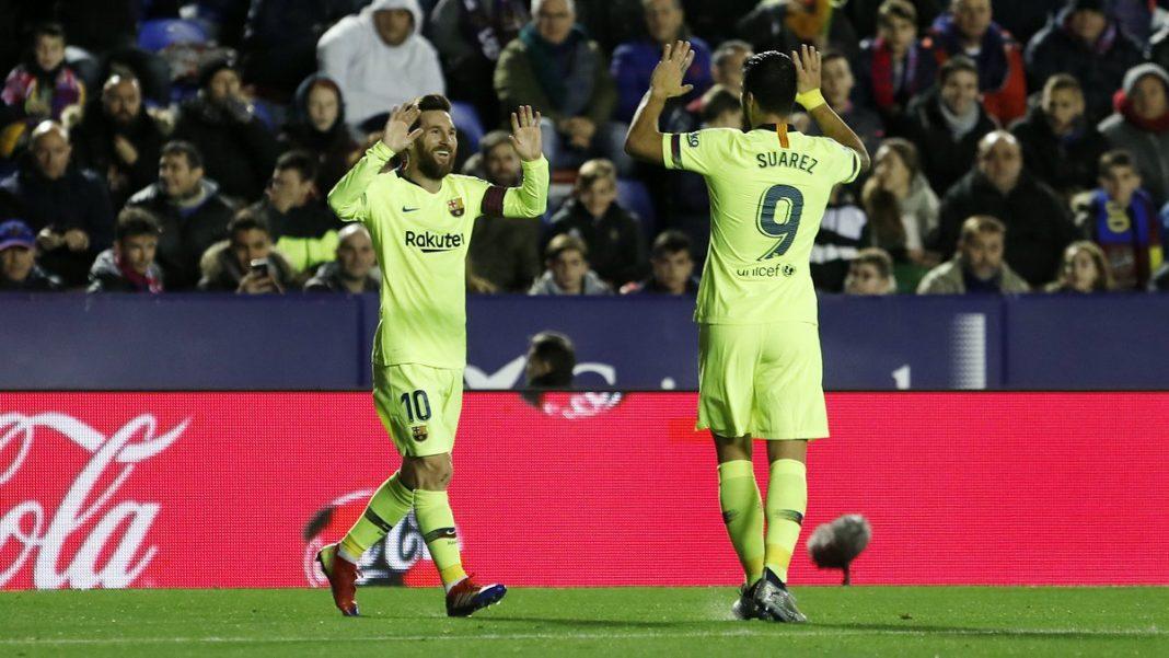 Messi llegó a 43 tripletes con Barcelona con los goles ante Levante