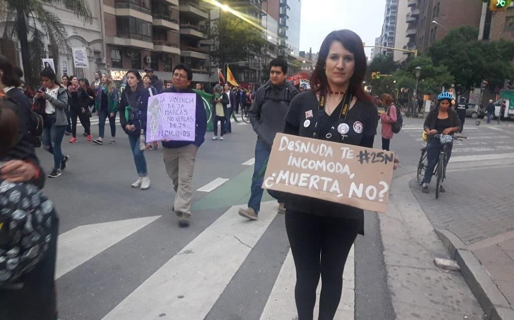 Marcha contra la violencia hacia las mujeres Florencia Gordillo